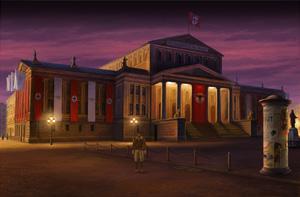 lost horizon - in front of the museum in Berlin
