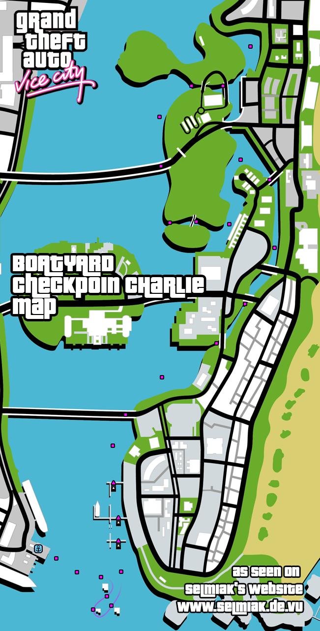 GTA Vice City Checkpoint Charly (Boatyard) Walkthrough