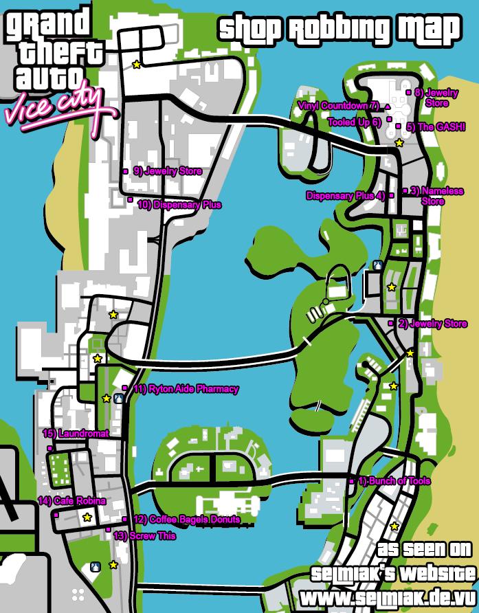 GTA Vice City Shop Robbing Walkthrough     Playstation 2