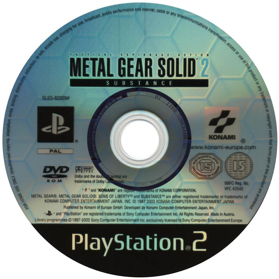 The PS2 Substance Disc