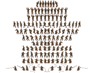 Indiana Jones Greatest Adventures Sprite Sheet