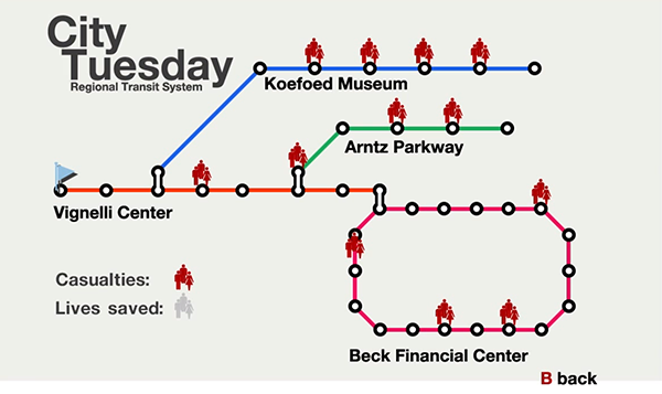 City Tuesday Map