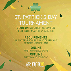 Featured Tournamen for St. Patrick's Day