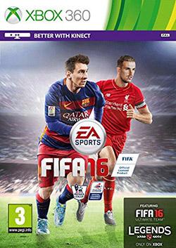 FIFA 16 - the Xbox 360 Cover